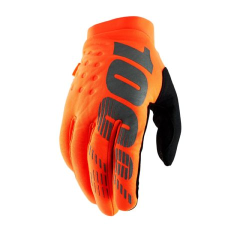 BRISKER 100% Glove Fluo Orange/Black